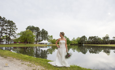 Outdoor water front wedding venue